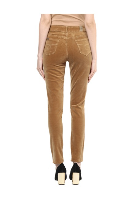 5a5b2b158f15c Buy Xpose Tan Corduroy Jeggings for Women Online @ Tata CLiQ