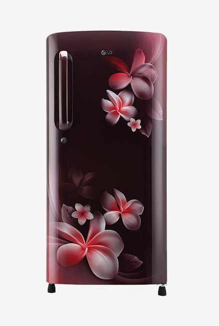 LG 190 L Inverter 5 Star Direct Cool Single Door Refrigerator  Scarlet Plumeria, GL B201ASPY