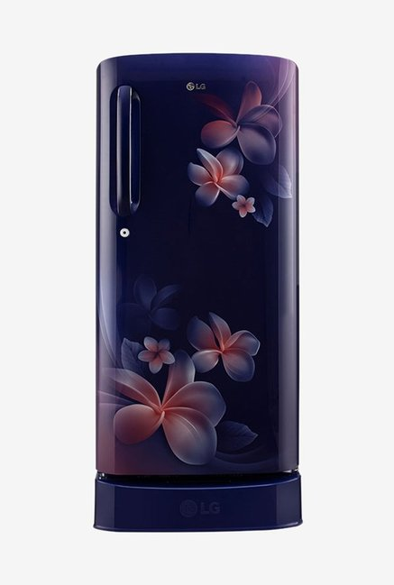 LG GL-D241ABPX 235 L Inverter 4 Star Direct Cool Single Door Refrigerator (Blue Plumeria)