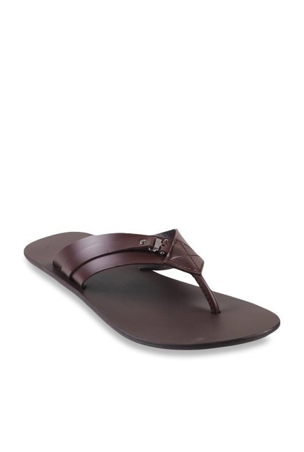 Men PriceTata For Buy Best Dark Thong Brown At Cliq Metro Sandals KT3lJ1Fc