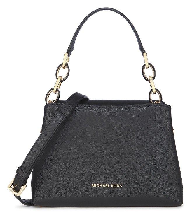 81b86508f5229 Buy Michael Kors Portia Black Shoulder Bag For Women At Best Price ...