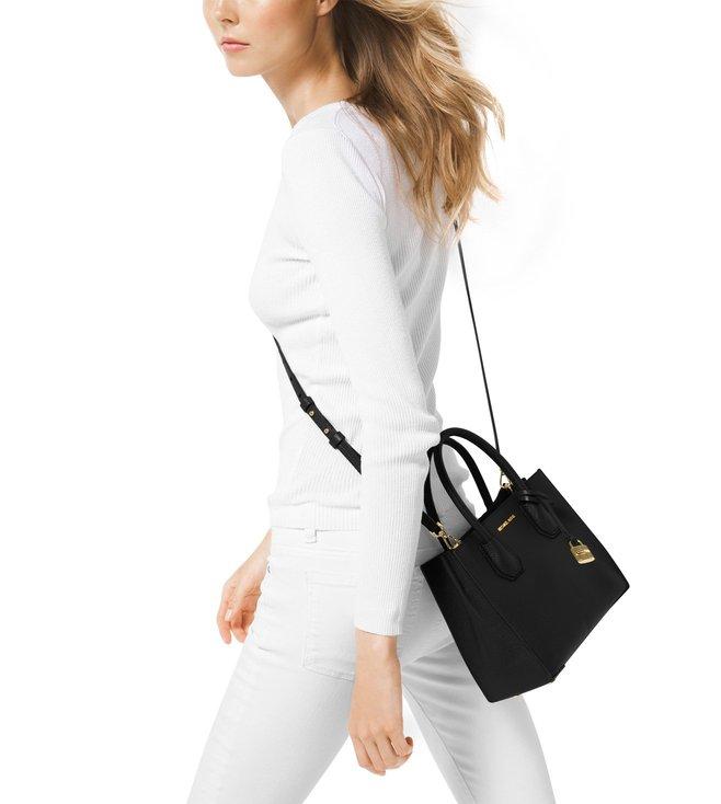 81ff8d3121c Buy Michael Kors Mercer Medium Black Cross Body Bag For Women At ...