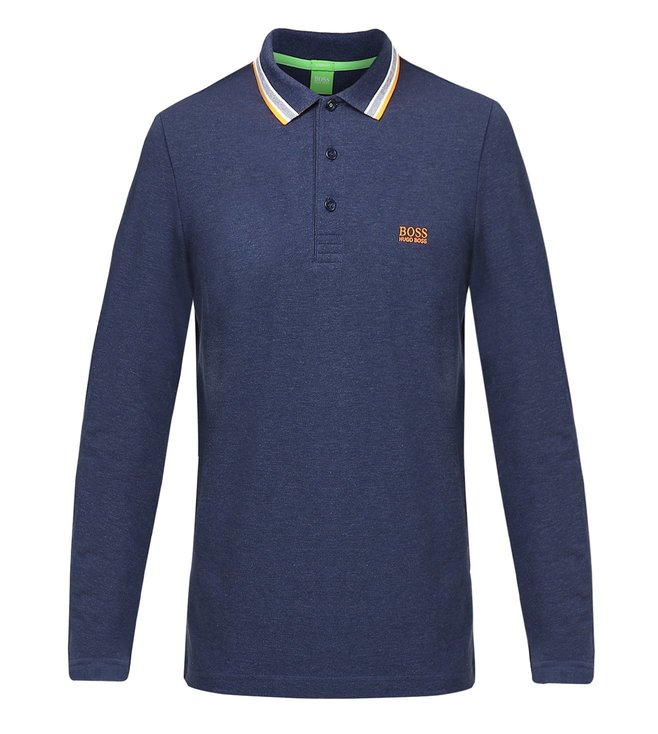 Boss Green Long-Sleeved Polo Shirt 'Plisy'