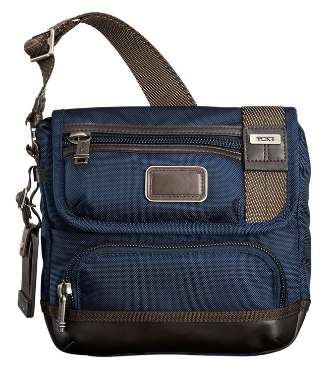 Tumi Alpha Bravo Barstow Navy Cross Body Bag