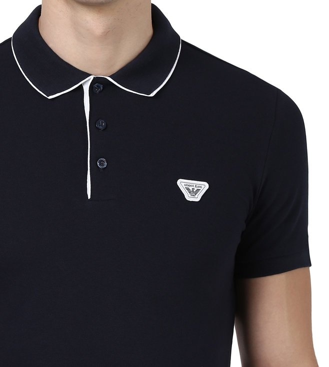 Armani Jeans Navy Polo T Shirt