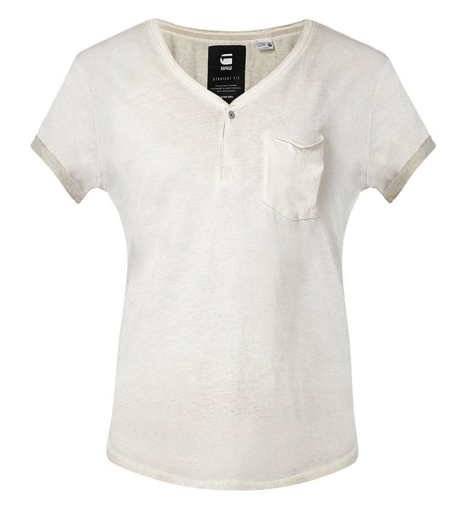 G-Star RAW Nola Granddad Off White T-Shirt