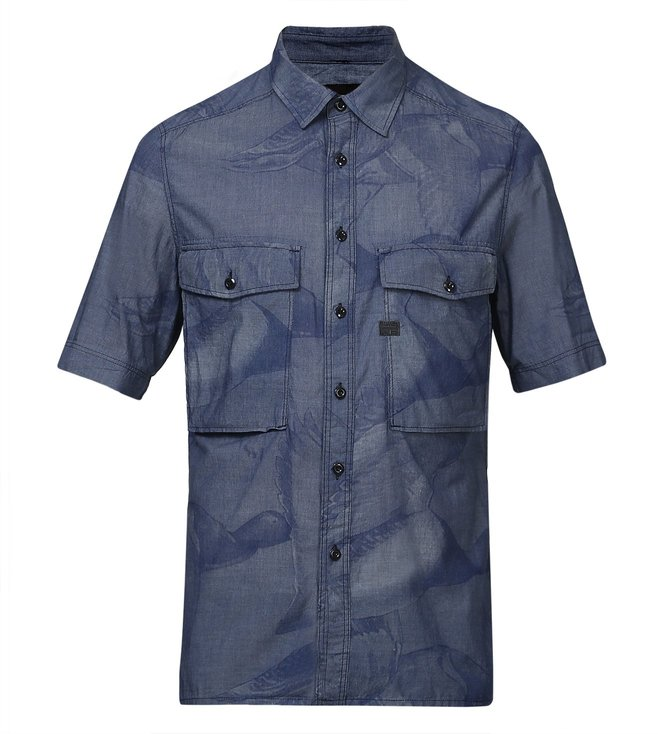 G-Star RAW Type C Navy Straight Shirt