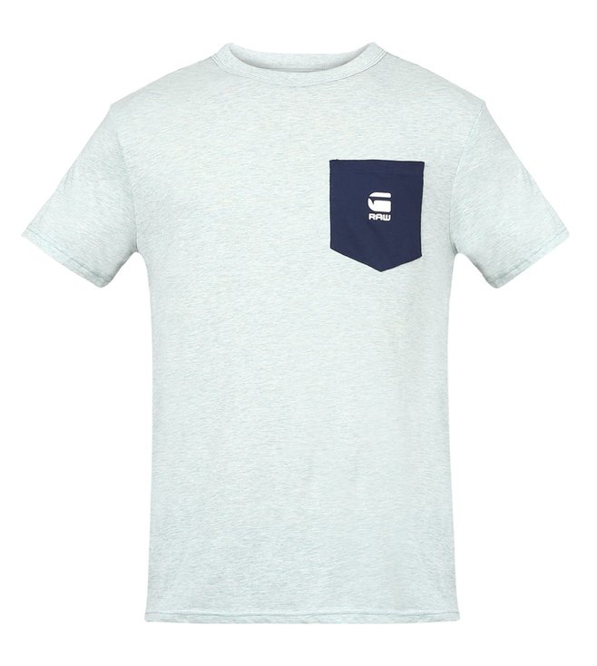 G-Star RAW Yarek Contrast Pocket Light Blue T-Shirt