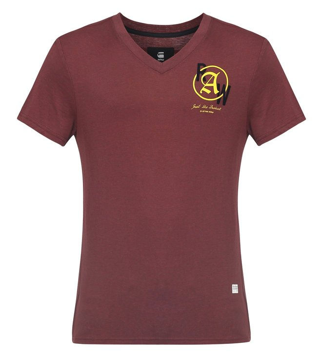 G-Star RAW Kaipoke Maroon T-Shirt