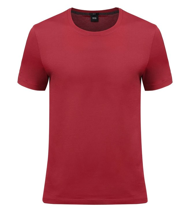 Boss Maroon Slim-Fit T-Shirt 'Tessler 33'