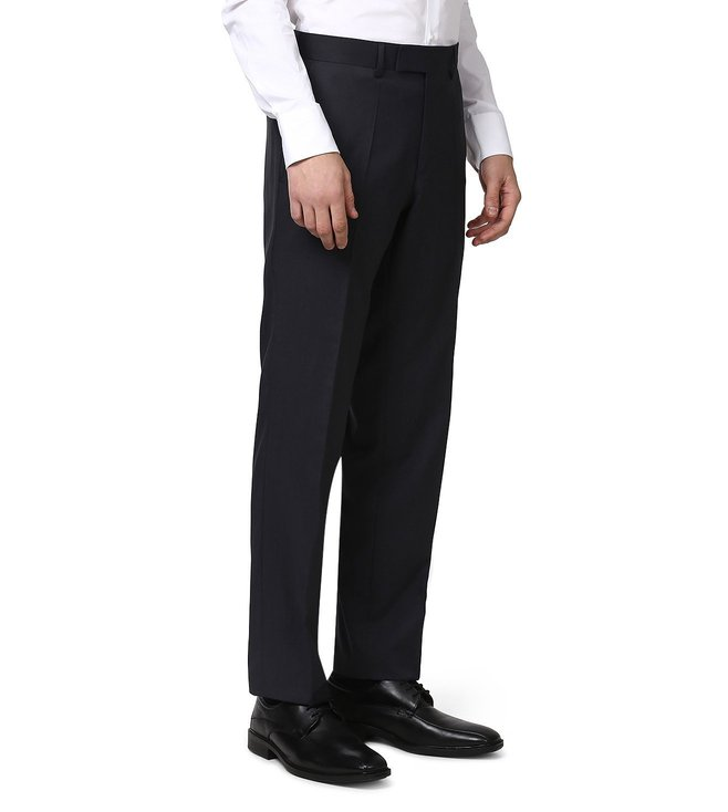 Boss Navy Comfort-Fit Trousers 'Movis'