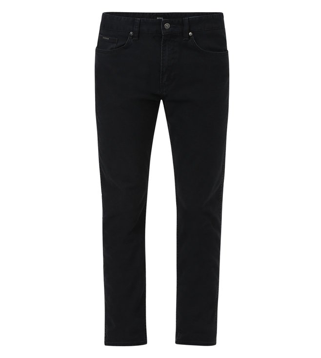 Boss Charcoal Slim Fit Solid Jeans 'Delaware3-20'