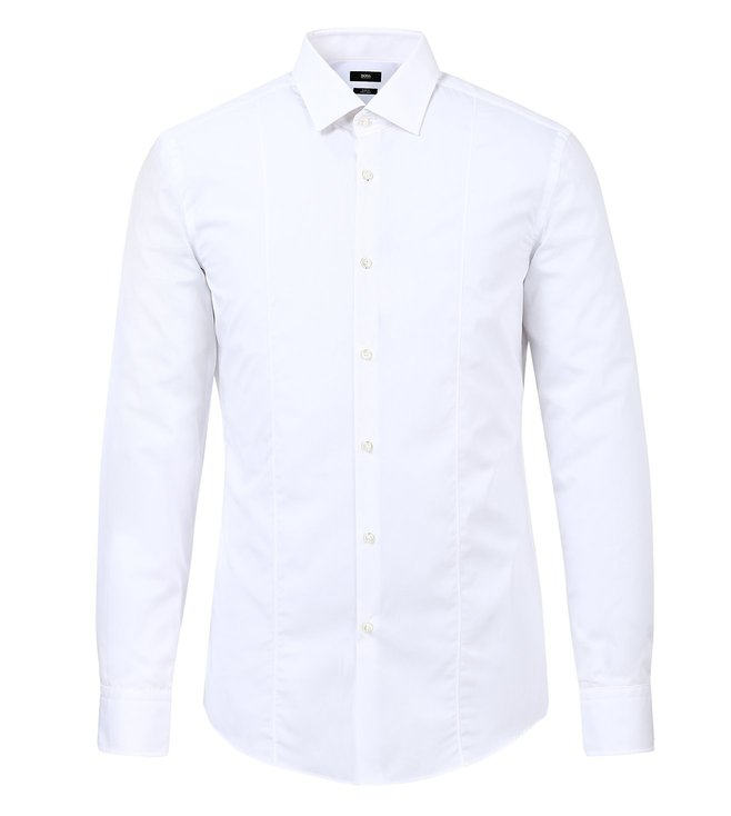 BOSS White Slim-Fit Shirt 'Jilip'