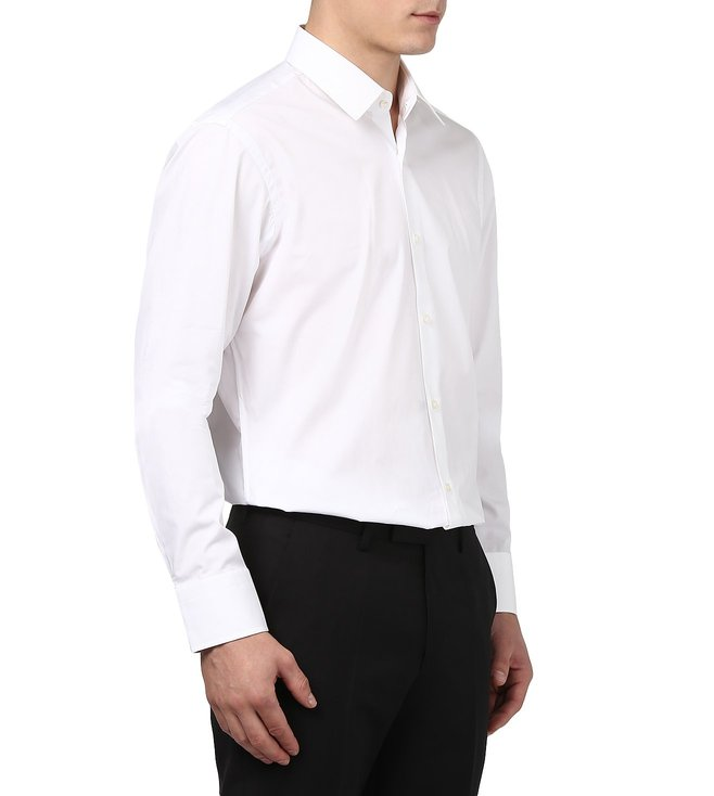 cd48e2e37 Buy Boss White Regular-Fit Shirt 'Enzo' For Men At Best Price @ Tata ...