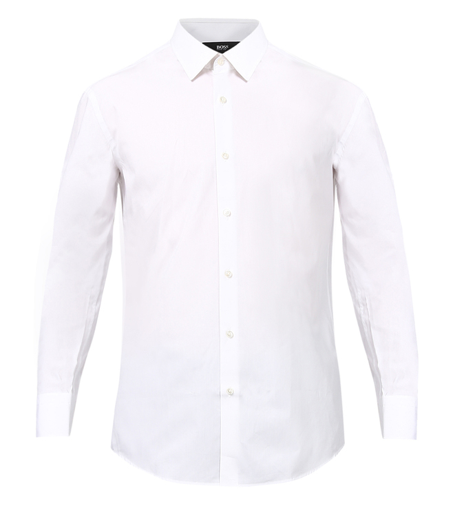 Boss White Regular-Fit Shirt 'Enzo'