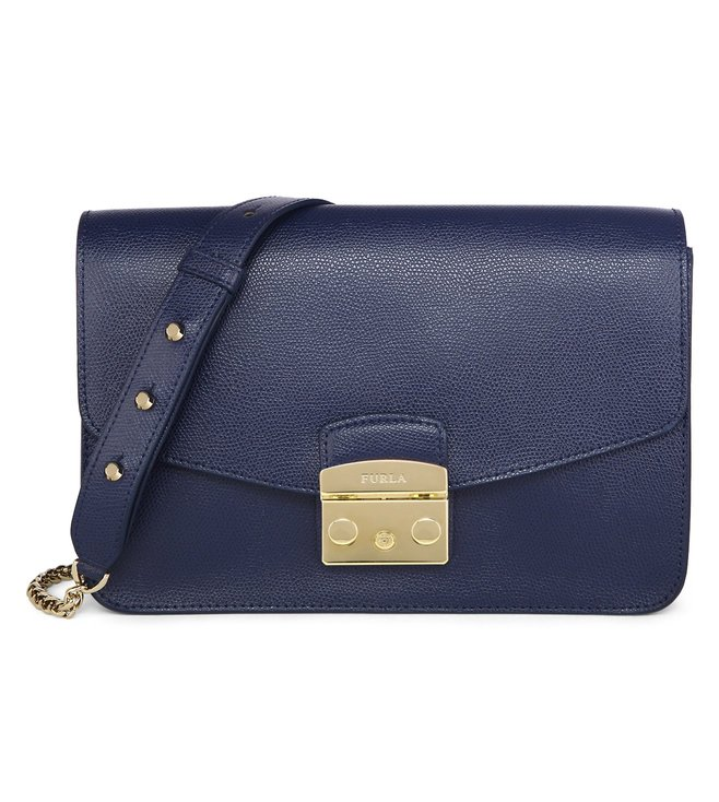 Furla Metropolis S Navy Shoulder Bag