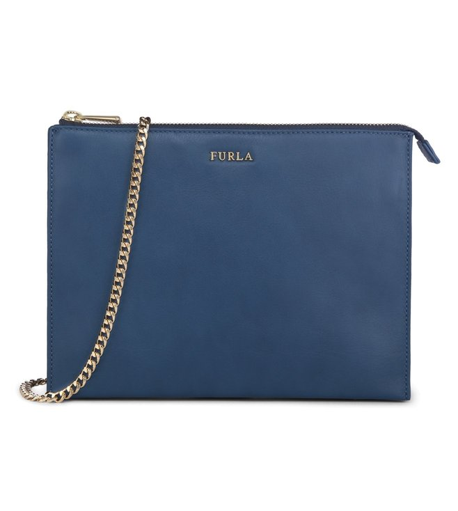 Furla Bolero Xl Blu Cobalto Cross Body Pouch