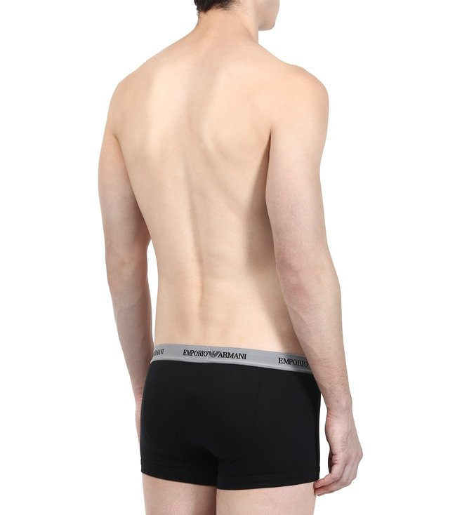 Emporio Armani Nero & Grigio Trunks (Pack Of 2)