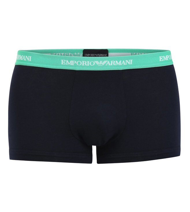 Emporio Armani Black, Blue & Green Trunks (Pack Of 3)