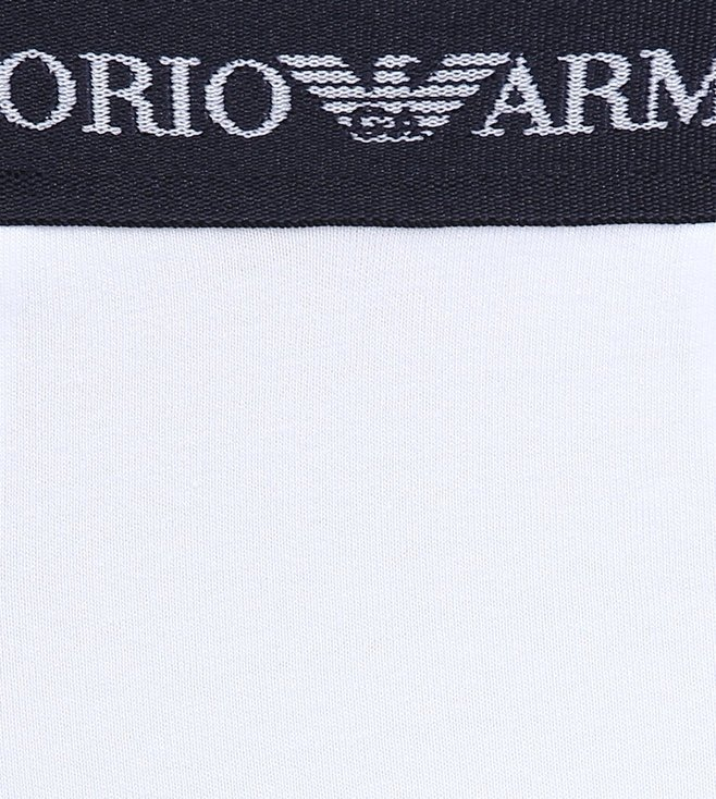 Emporio Armani Bianco Trunks (Pack Of 3)