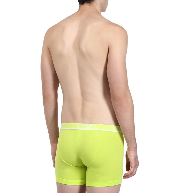 Emporio Armani Marine & Lime Boxers (Pack Of 2)