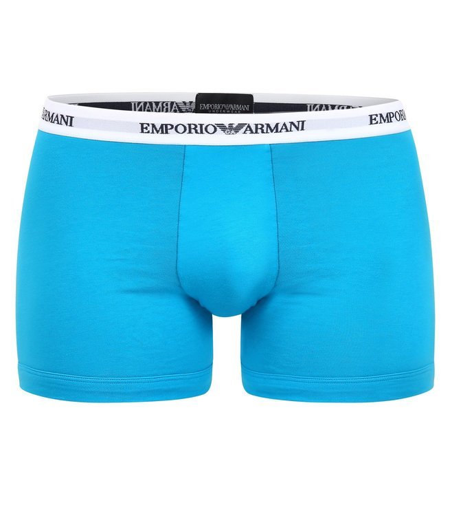 Emporio Armani Marine & Turchese Boxers (Pack Of 2)