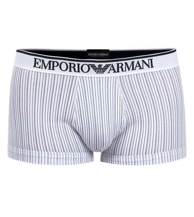 Emporio Armani Black & White Trunks (Pack Of 2)