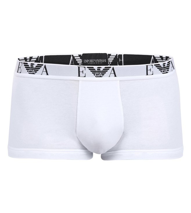 Emporio Armani White Trunks (Pack Of 2)