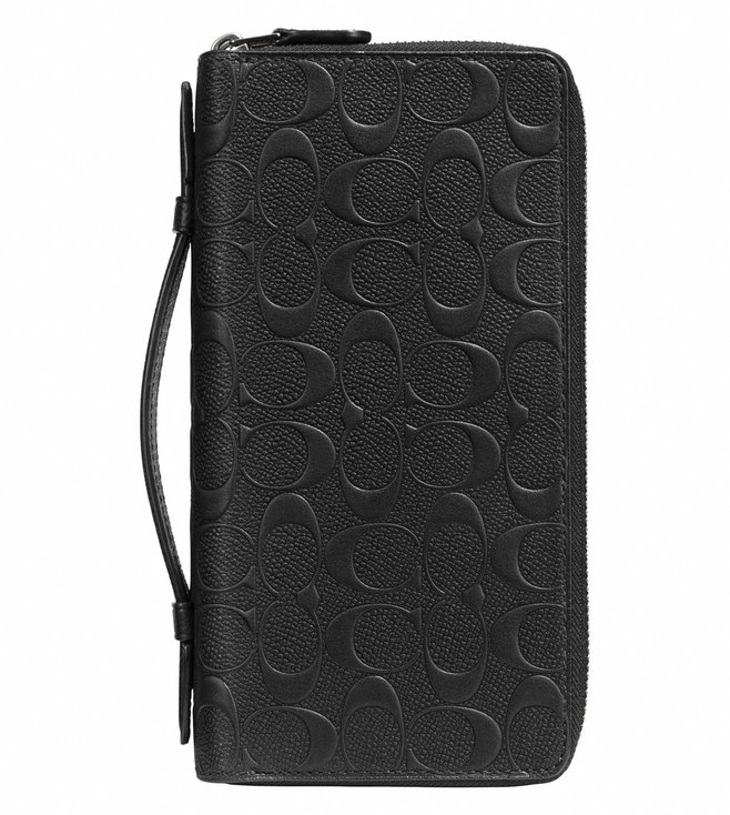 Coach Black Double Zip Travel Organizer