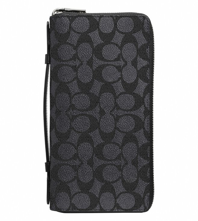 Coach Charcoal Double Zip Travel Organizer