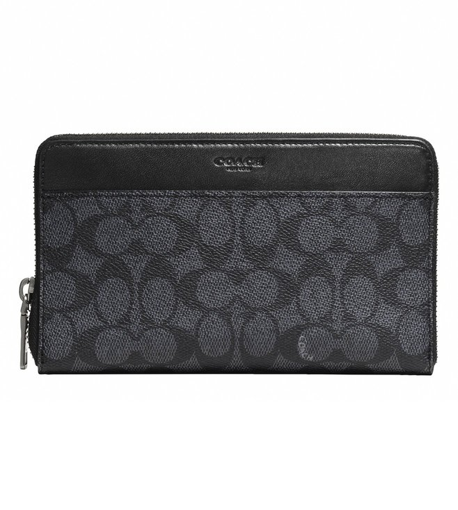 Coach Charcoal Document Wallet