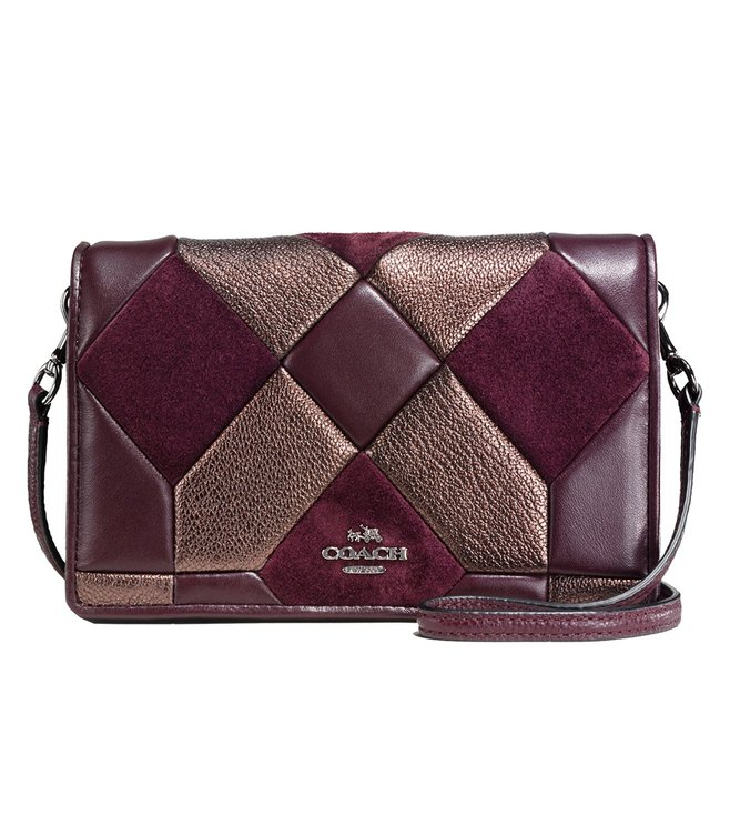 Coach Dark Oxblood Foldover Crossbody Bag