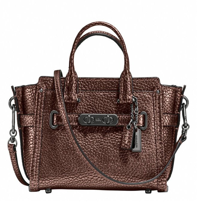 Coach Swagger 15 Dark Bronze Satchel