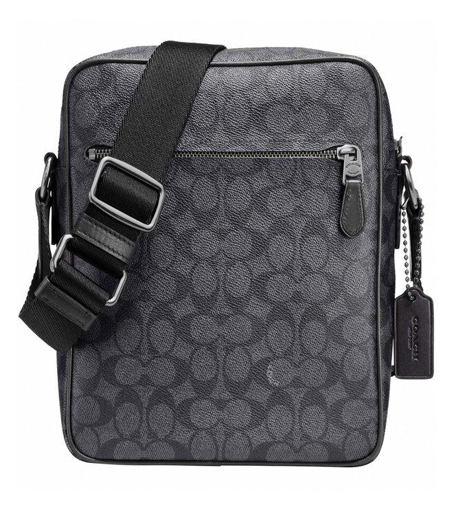 67ad785735 Buy Coach Charcoal Metropolitan Flight Crossbody Bag For Men At Best ...