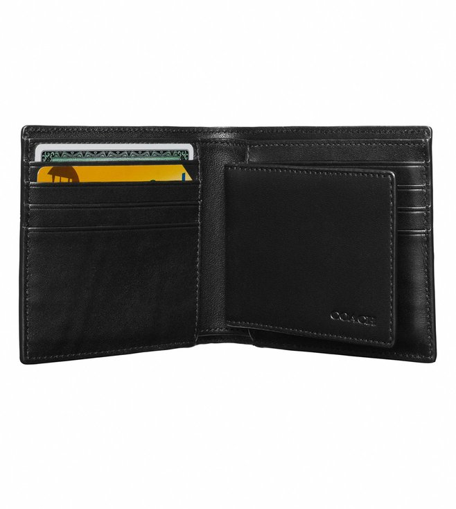 Coach Charcoal Compact Wallet