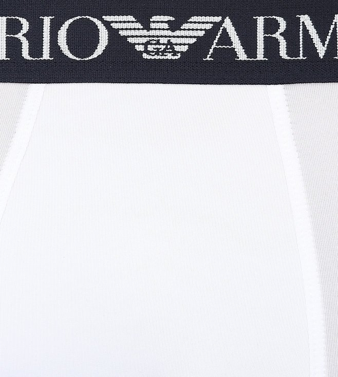 Emporio Armani White Trunks