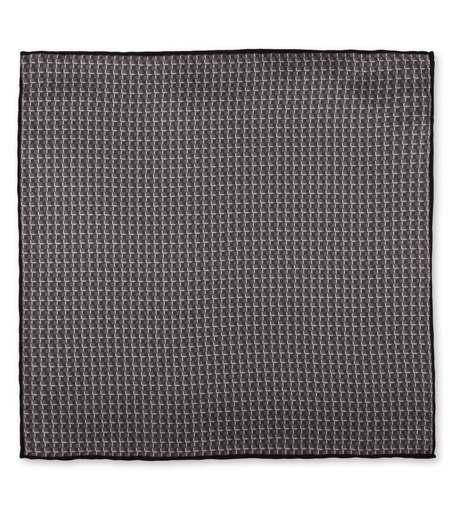 Boss Medium Grey Pocket Square