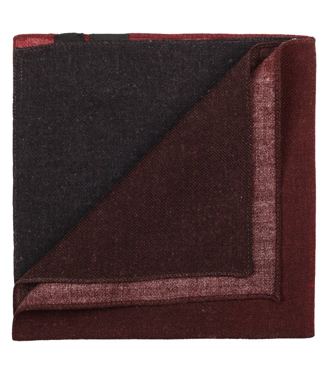 Boss Maroon Pocket Square