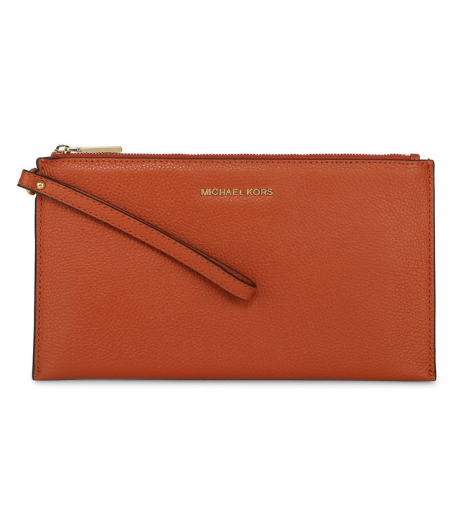 8bc4e09651c17a Buy Michael Michael Kors Mercer Large Orange Wristlet For Women At ...