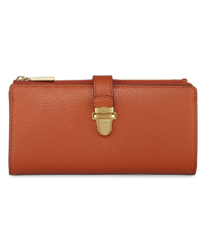 3277c6cca3ed71 Buy Michael Michael Kors Mercer Large Orange Wallet For Women At ...