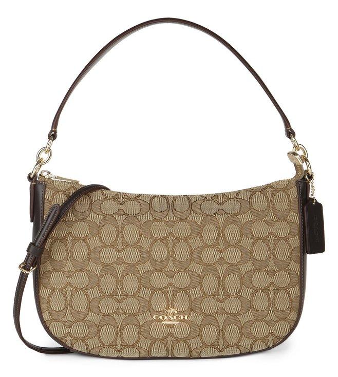 c575f9ca46d Buy Coach Brown Jacquard Sig Chelsea Crossbody Bag for Women Online ...