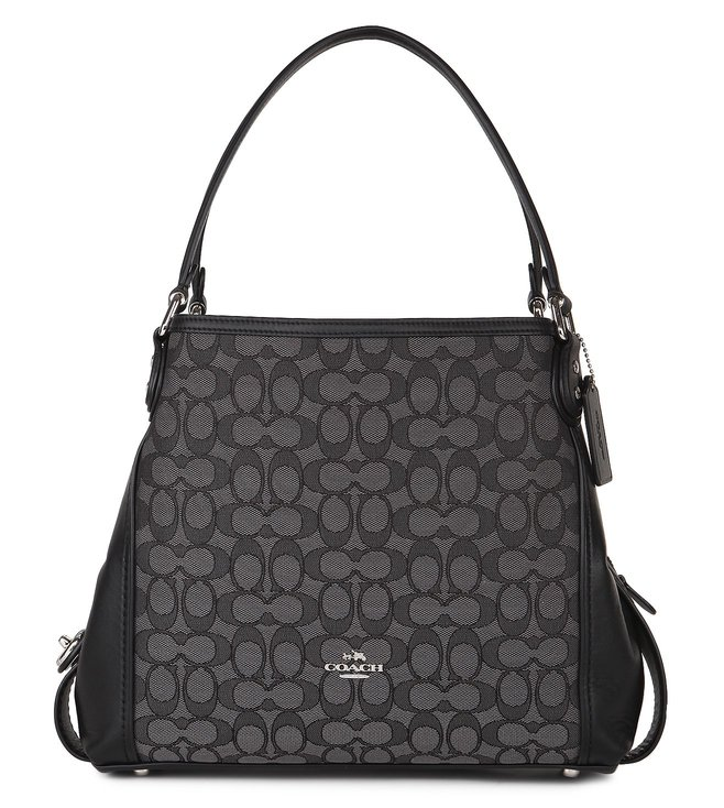 5f1439e36782 Buy Coach Black Jacquard Edie 31 Shoulder Bag for Women Online ...