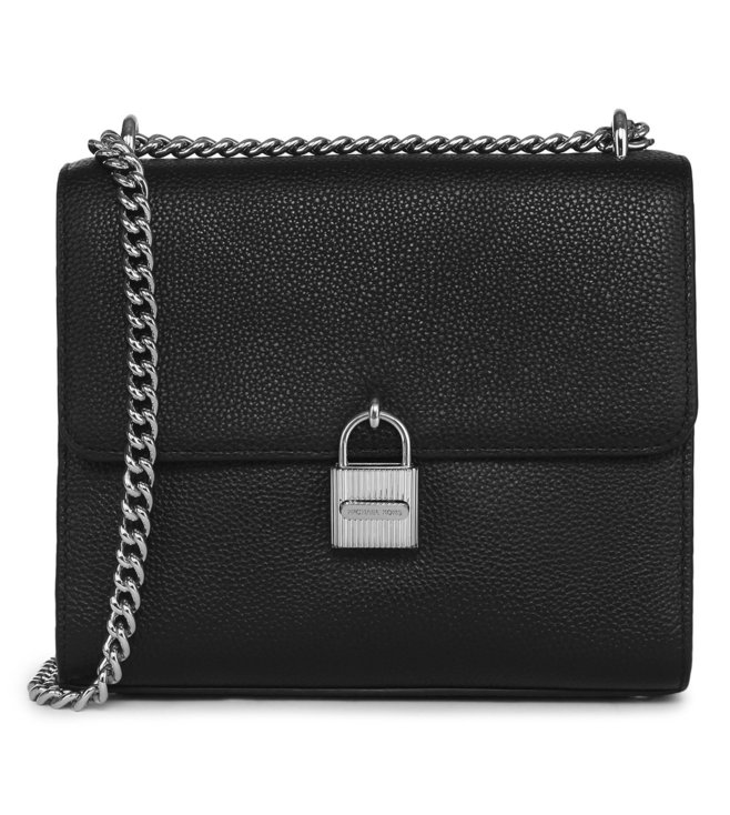 a1a8ef6291dd3 Michael Kors. Michael Michael Kors Black Mercer Leather Crossbody Bag ...