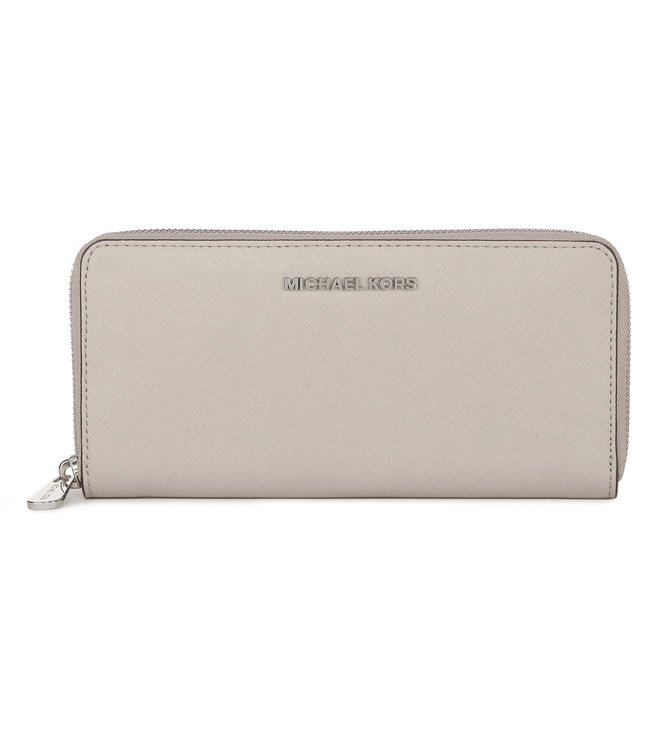 6a8a538342cd Added to Bag. Michael Michael Kors Cement Jet Set Travel Large Wristlet