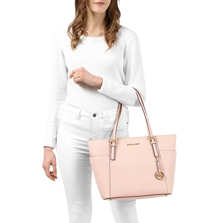 2bb35ea622e4 Buy Michael Michael Kors Jet Set Item Soft Pink Large Tote for Women ...