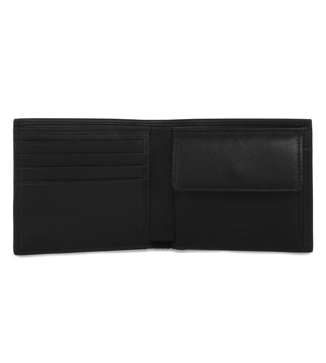 Boss Wallet In Leather 'Ruben 4 CC Coin'