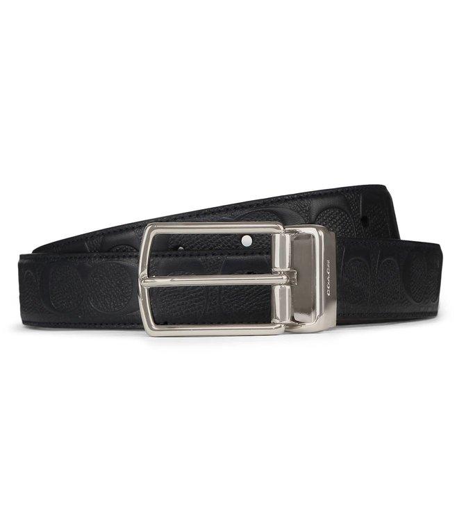 763b20f339fc Buy Coach Modern Harness Reversible Signature Black Belt for Men ...