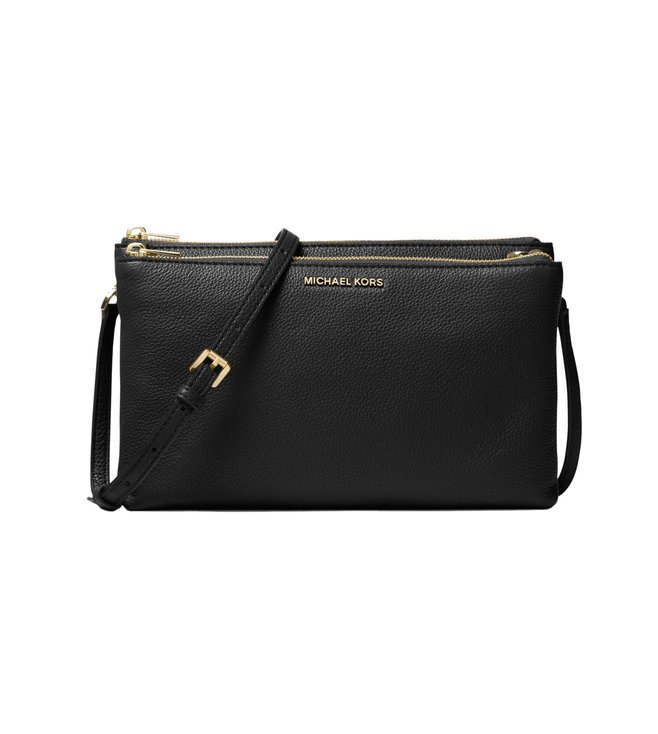 Buy Michael Michael Kors Adele Black Crossbody Bag for Women Online ... 2b177cc6bb197