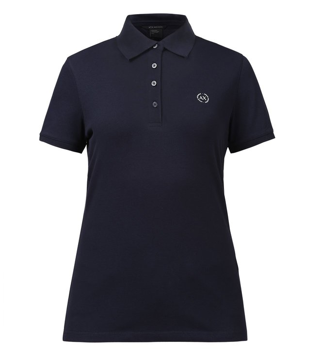 Buy Armani Exchange Navy Signature Polo T-Shirt for Women Online ... c753fcbc1
