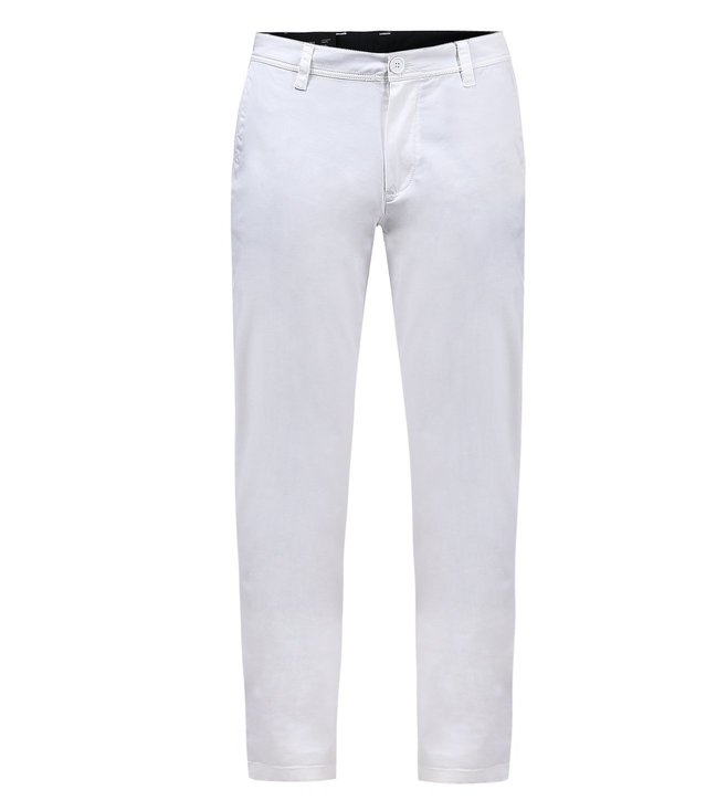 Armani Exchange White Straight Fit Chinos